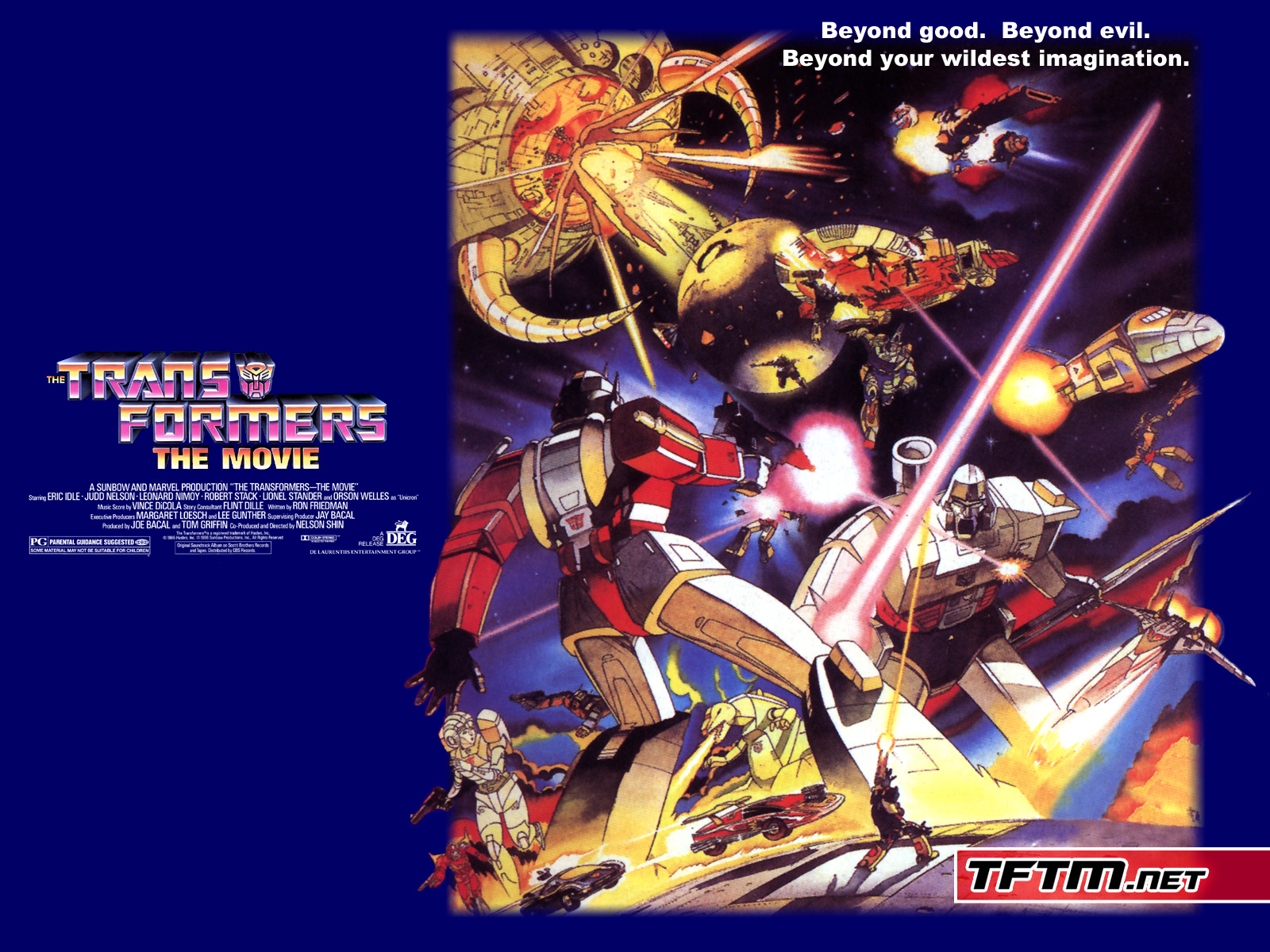 Image result for transformers the movie 1986 poster
